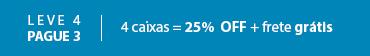 Promoção Acuvue - combo 25% leve 4 pague 3