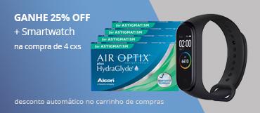 Promoção Smartwatch Air Optix Astigmastim