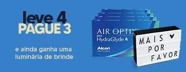 Promoção Air Optix Hydraglyde L4P3