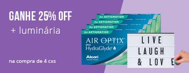 Promoção L4P3 - Air Optix Astigmatismo com luminaria
