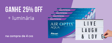 Promoção L4P3 - Air Optix Aqua Multifocal com luminaria